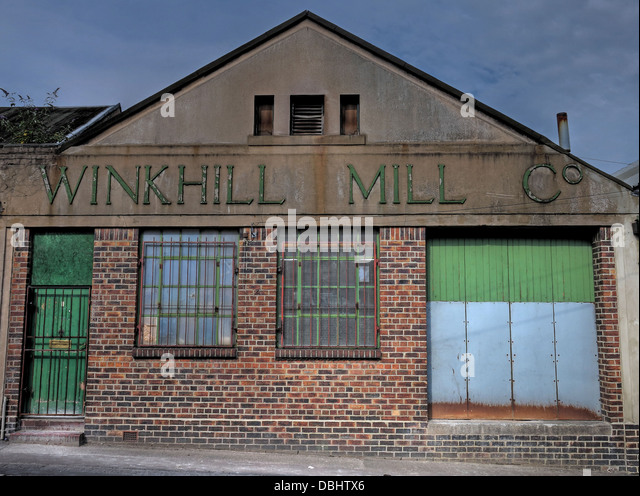 The old Winkhill Mill Co in Stoke-On-Trent - Stock Image