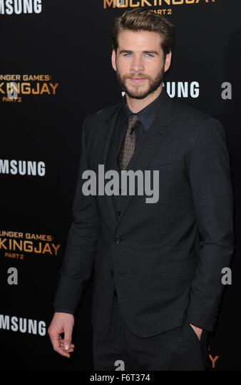 New York, NY, USA. 18th Nov, 2015. Liam Hemsworth at arrivals for THE HUNGER GAMES: MOCKINGJAY – PART 2 Premiere, - Stock Image