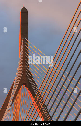 Leonard P. Zakim Bunker Hill Memorial Bridge - Stock Image