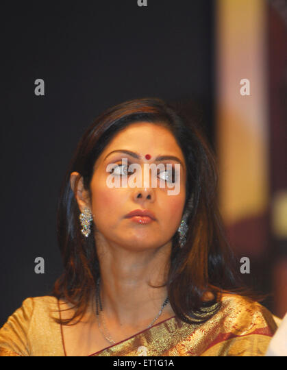 Actress sridevi ; India NO MR - Stock-Bilder