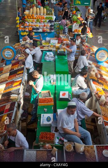 Green Market, Almaty, Kazakhstan, Central Asia, Asia - Stock Image