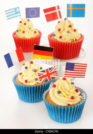 INTERNATIONAL CUPCAKES - Stock-Bilder