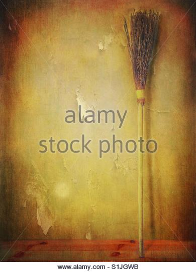 witch Broom - Stock Image