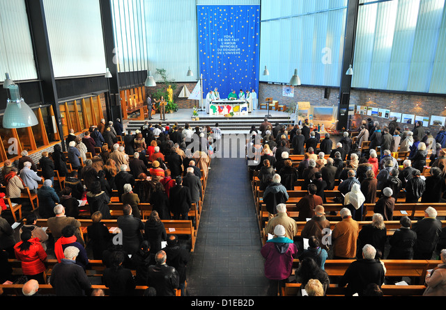 Catholic Mass for all nations, Paris, France, Europe - Stock Image