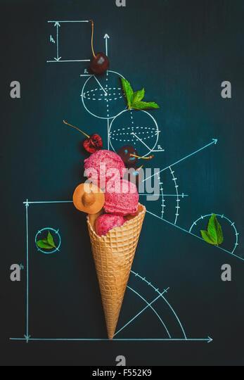 Sweet geometry. Summer homework. - Stock Image