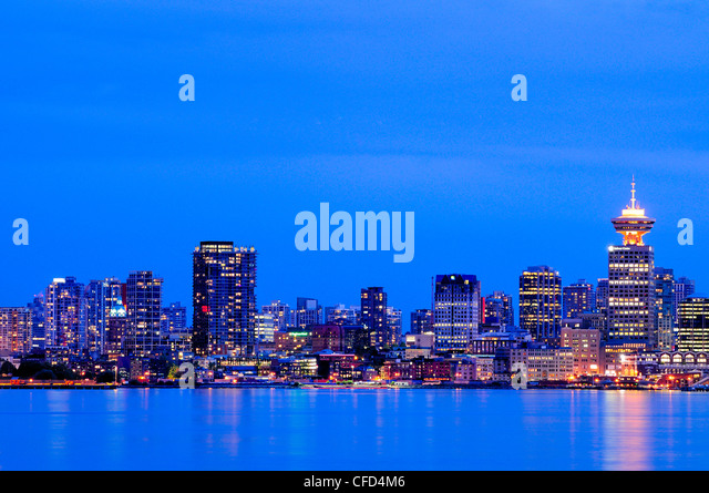 Part of the downtown skyline in Vancouver, British Columbia, Canada. - Stock Image