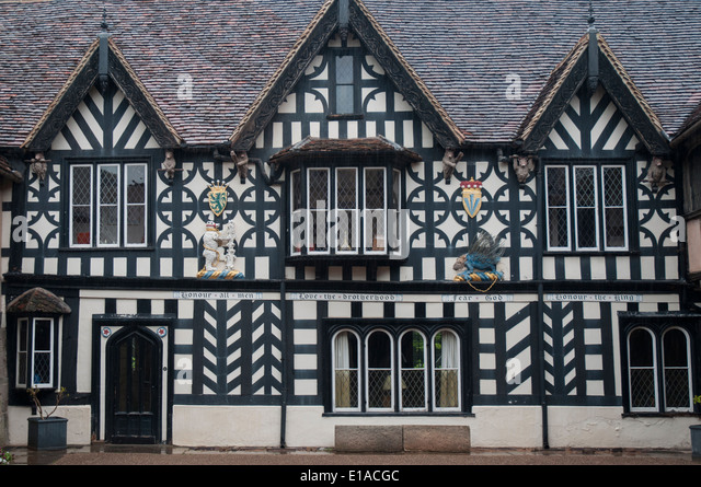 Masters House at the Lord Leycester Hospital in Warwick - Stock Image