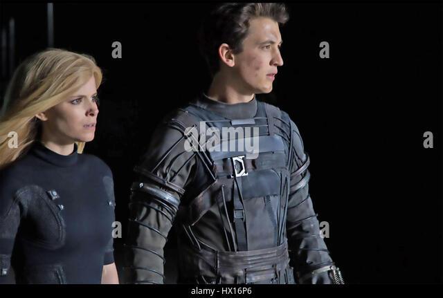 FANTASTIC FOUR 2015 Twentieth Century Fox film with Kate Mara and Miles Teller. Photo Alan Markfield - Stock-Bilder