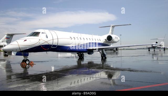 Embraer 135 OK executive aircraft - Stock Image