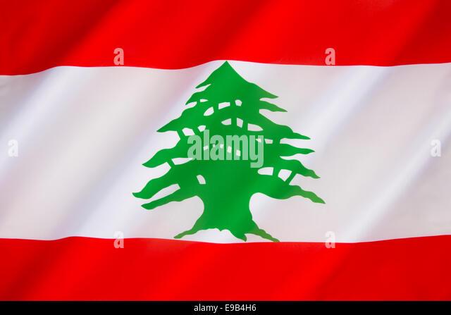 Flag of Lebanon - Stock Image