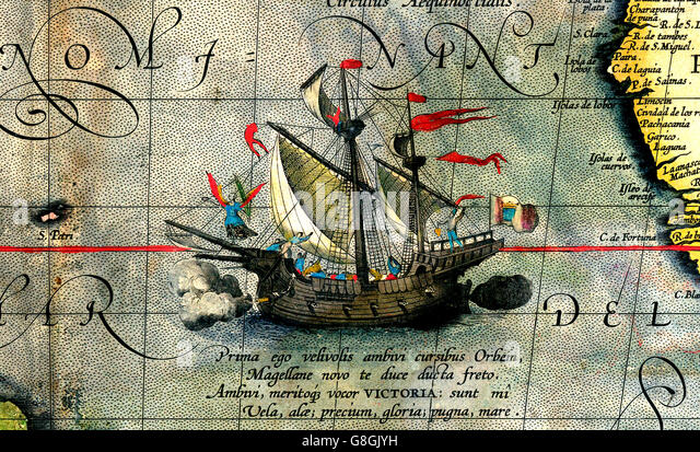 Ferdinand Magellan's ship Victoria - Stock Image
