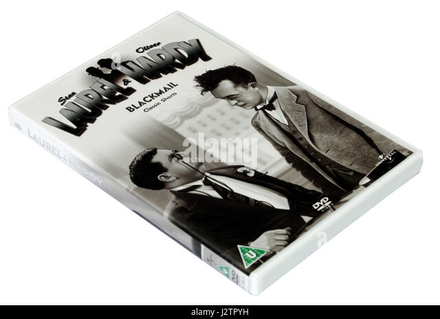 Blackmail:  A Laurel and Hardy DVD of short films - Stock Image