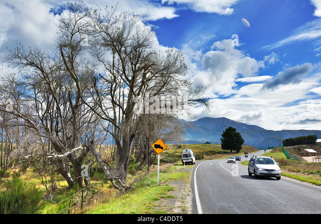 Travel around New Zealand Country side - Stock-Bilder