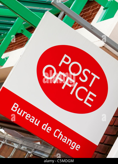 Change street sign stock photos change street sign stock - Post office bureau de change buy back ...