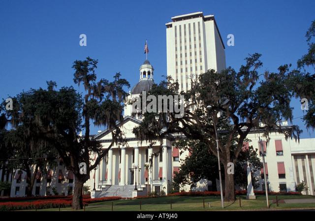 Florida fl tallahassee old state capitol building State House The Old State Capitol and Florida State Capitol - Stock Image