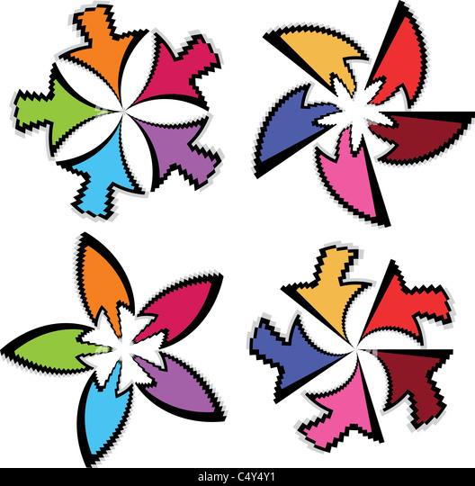 arrows art brushes - Stock Image