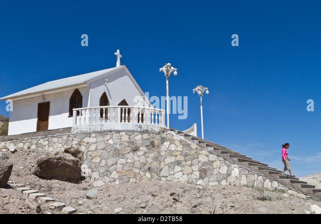 Catholic Church, Isla San Marcos, Gulf of California (Sea of Cortez), Baja California Sur, Mexico, North America - Stock-Bilder