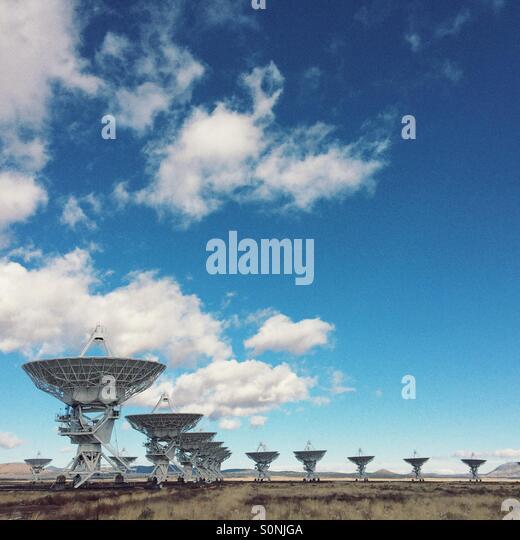 The Vary Large Array (VLA) radio telescope array in Socorro, New Mexico. - Stock-Bilder