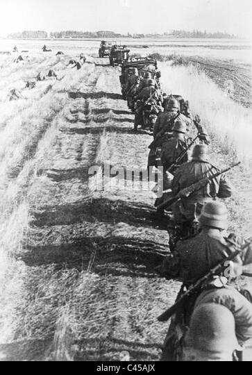 German reconnaissance division near Kalinin, 1941 - Stock Image