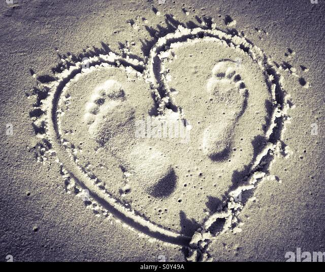 Don't step on my heart - Stock Image