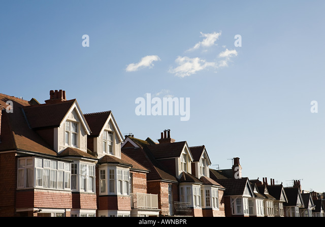 Street of houses - Stock-Bilder