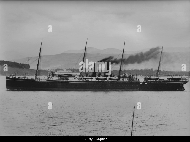 UK Scotland Firth of Clyde off Greenock the SS Himalaya photographed 16 6 1892 - Stock-Bilder