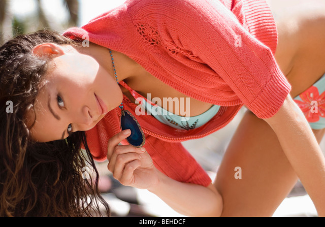 Portrait of a young woman posing - Stock-Bilder