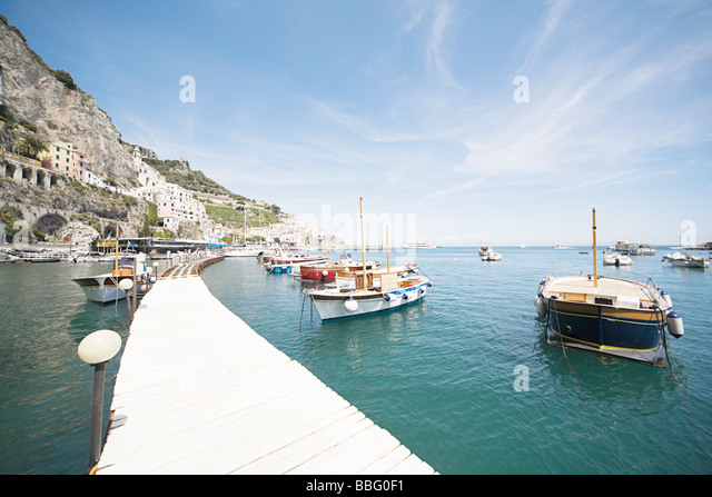 Boats in a harbour - Stock Image