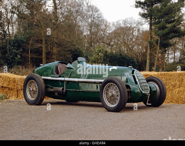 1935 Alfa Romeo 8C 35 3.8 litre Grand Prix single seat racing car driven by Dennis Poore Country of origin Italy - Stock Image