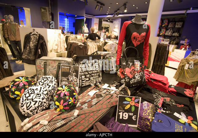 spain Barcelona Desigual fashion store in Ribera - Stock Image