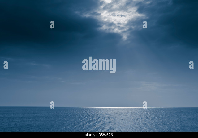 Sky and sea landscape - Stock Image