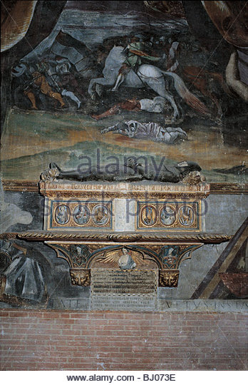 The tomb of Jacopo Cavalli, the church of S.S. Giovanni a Paolo,Venice, Italy - Stock-Bilder