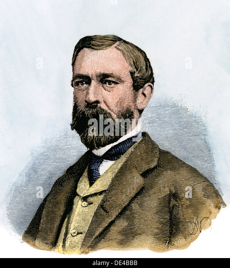 Richard Taylor, a Confederate general in the Civil War, son of US President Zachary Taylor. - Stock-Bilder