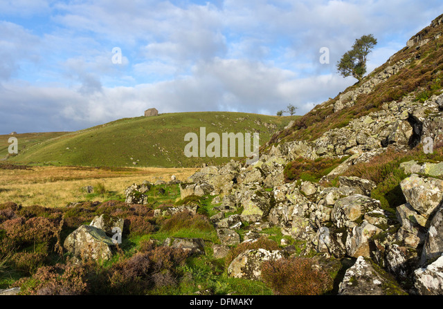 The Pennine Way Footpath Below Falcon Clints in Upper Teesdale County Durham UK - Stock Image