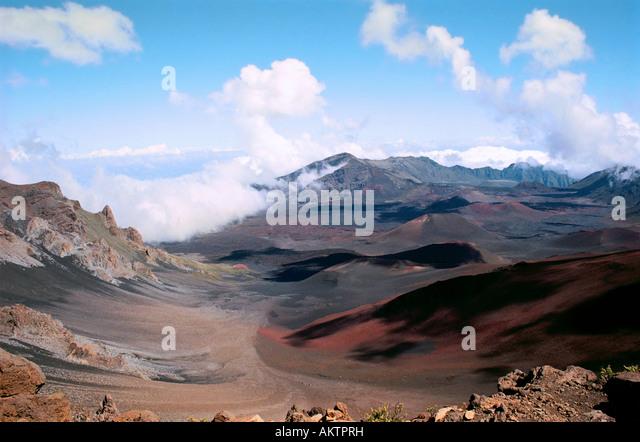 haleakala crater,maui,hawaii - Stock Image