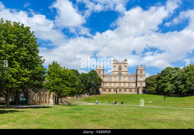 Wollaton Hall, a 16thC Elizabethan country house, Wollaton Park, Nottingham, England, UK - Stock Image