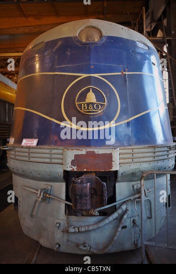 The B&O No. EA511937, Passenger Car Works building, B&O Railroad Museum, Baltimore, Maryland. - Stock Image