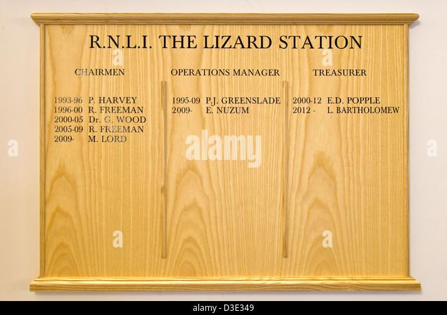 RNLI The Lizard Lifeboat Station Cornwall England - Stock Image