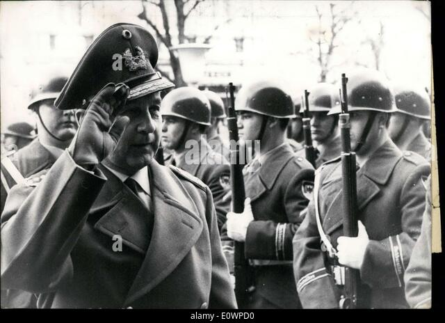 Jan. 02, 1964 - New Military General Inspector in Office. 56 year old General Trettner has succeeded General Foertsch - Stock Image