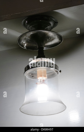 A light powered by natural gas using a ceramic mantle - Stock Image