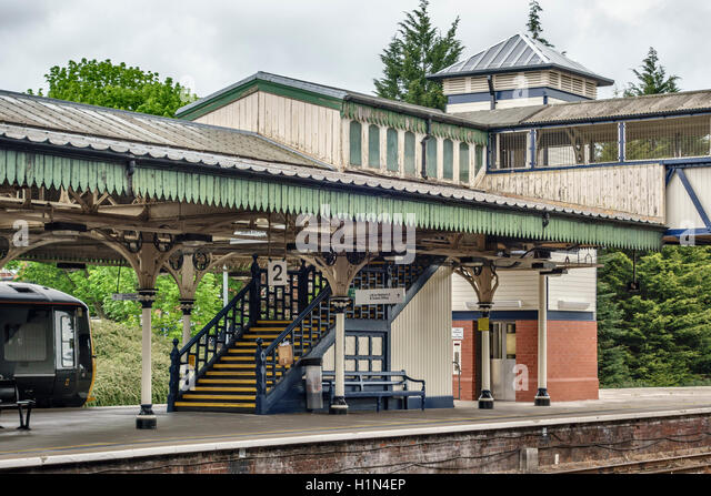 Herefordshire, UK. Hereford railway station, run by Arriva Trains Wales. It opened in 1853 - Stock Image