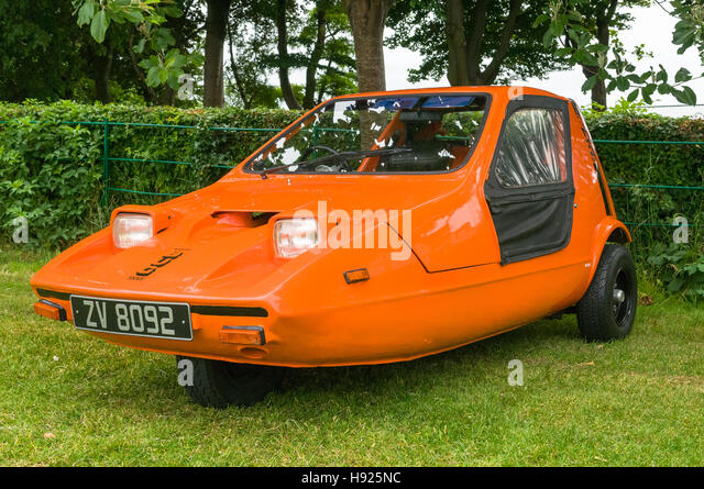Vintage car show - Bond Bug car, - Stock Image