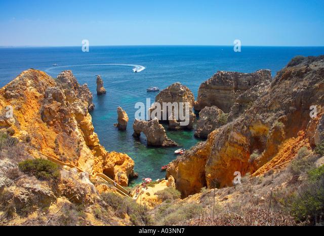 Ponta da Piedade, (Point of Pity), Lagos, Algarve Portugal - Stock Image