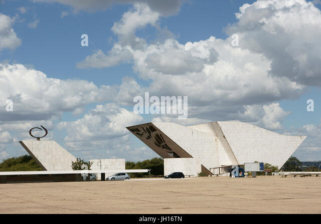 Marco Brasília, Cultural Patrimony  Humanity, Pantheon  Homeland, Tancredo Neves, Square  Three Powers, Distrito - Stock Image