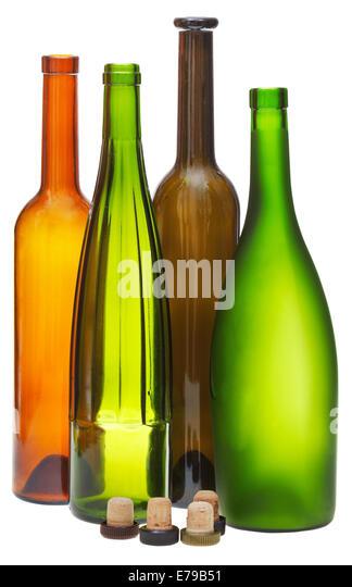 Whisky bottle cap stock photos whisky bottle cap stock images alamy - Empty colored wine bottles ...