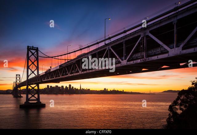 The San Francisco – Oakland Bay Bridge (known locally as the Bay Bridge) - Stock Image