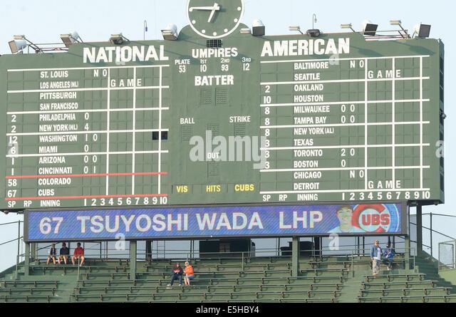 Major League Baseball Scoreboard Stock Photos & Major ...
