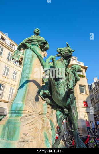 Statue of Eugène Fromentin (artist), La Rochelle, France. - Stock Image