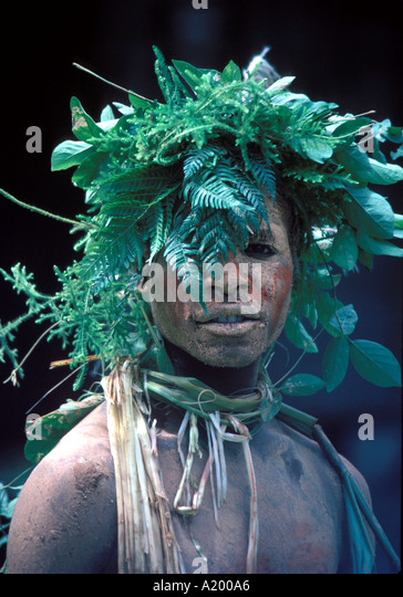 Native Iran Jaya Indonesia - Stock Image