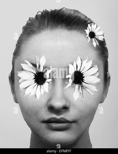 Flower girl - Stock Image